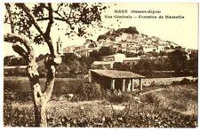 CPA 04 Alpes de Haute-Provence Mane vue générale Fontaine de Marseille