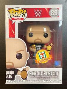 FUNKO POP WWE STONE COLD STEVE AUSTIN 3:16 SHIRT 2 BELTS 7-ELEVEN EXCLUSIVE MINT