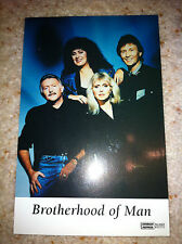 Brotherhood of Man Nicky Sandra Stevens Music inscribed Signed Picture/autograph