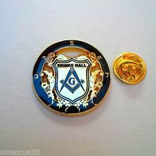 Masonic Prince Hall Delux Large Lapel Pin Freemason Golden Finish PHA Masonry
