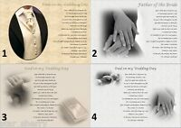 FATHER OF THE BRIDE from daughter - personalised wedding keepsake, poem