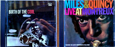 MILES DAVIS - BIRTH OF THE COOL + MILES & QUINCY - LIVE AT MONTREUX - 2 CD LOT