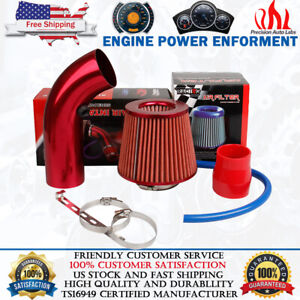 """3"""" Universal Car Cold Air Intake Filter Alumimum Induction Kit Pipe Hose System"""