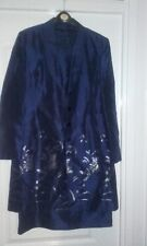 LADIES 2 PIECE HAMELLS DRESS SUITE NAVY BLUE WITH EMBROIDERY SIZE 12 FULLY LINED