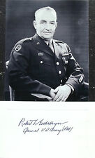 General Robert Eichelberger Noted WW II Army Commander Signed Card ''Rare''