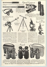 "1956 PAPER AD Deluxe Nikon Equatorial 2.5"" Astronomical Telescope Selsi"