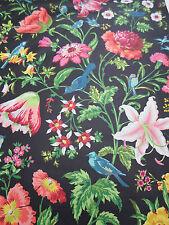 "Tessuto schumacher ""Avondale floreale"" 5,5 Metri (550cm) Night Garden 100% COTONE"