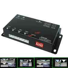 Car four Cameras Image Combiner Switch Quad Video Split Control Box Support DVR