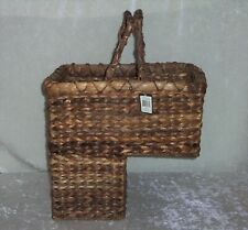 Stair Basket Creative Co-Op BacBac Leaf Woven