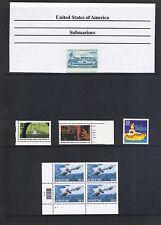 U.S.A. 3 Page Submarine Collection MNH VF SCV $75