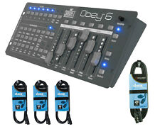 Chauvet Obey 6 DMX Controller with 25' DMX Cable and 3x 10' Cables PROAUDIOSTAR