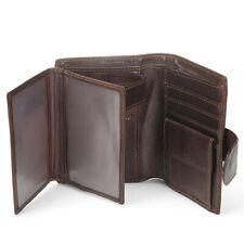 Men Leather Wallets Male Trifold Clutch Purse Multi Card Case Holder Hasp Wallet