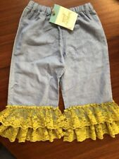 Matilda Jane Paint By Numbers 6 Linen Lace Ruffle Pants New! Nwt