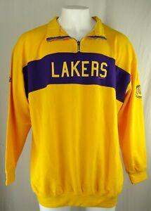 Los Angeles Lakers NBA Majestic Men's Quarter-Zip Sweatshirt
