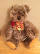 "Vtg Steiff Zotty Jointed Bear w/Red Bow Germany 6.5"" 1960's"
