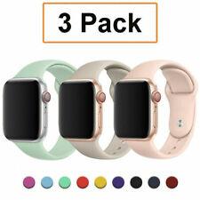 Paquete De 3 para Reloj de Apple 6 5 4-1 iWatch se 38/40/42/44mm Correa de banda de silicona sport