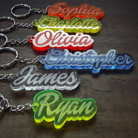 Personalised FROZEN KEYRING KEYCHAIN GIFT ANY NAME SCHOOL TEACHER BAG TAG WORD