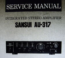 SANSUI AU-317 INT STEREO AMP SERVICE MANUAL INC SCHEM DIAG PRINTED BOUND ENGLISH