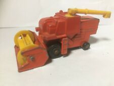MATCHBOX NO.51 COMBINE HARVESTER, GOOD CONDITION, NO BOX, RED/YELLOW