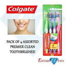 Colgate Toothbrush Premier Clean Remove Stains Medium Bristles - Pack of 4