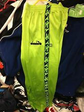 DIADORA TRAcKSUITS BOTTOMS POLYESTERIN 22 24 26 28 30AT £9 LIME