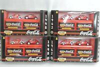 Matchbox Collectibles Coca-Cola 1962-1998 2-Pack Lot of 4 VW Beetle VW Concept 1