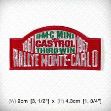 new RALLYE MONTE CARLO Embroidered Iron on Patch BMC MINI CASTROL THIRD WIN 1967