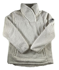 Girls The North Face Jacket Campshire Pullover Sherpa Fleece Warm Soft White XL