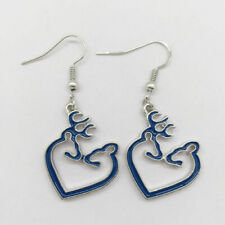 Fashion Jewelry, Browning Jewelry(Blue) Heart Browning Deer Charm Earrings,