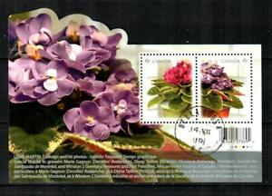 CANADA Scott's 2376 ( S/S ) African Violets F/VF Used ( 2010 ) #2