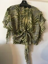 Kenzo Silk Short Coverup Sz. 16