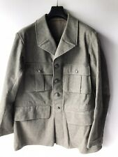 Vintage 1941 Swedish Military Wwii Army Wool Mid Length Jacket Back Pocket L