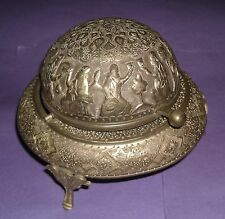 Antique vintage retro ash tray hand chased