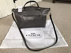 Coach New with Tags Prairie Satchel in Metallic Pewter