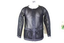 CHANEL Black Mesh See Through Nylon Zip Jacket AY774/ 40 4 5 6