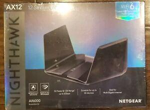 NEW! NETGEAR NIGHTHAWK AX12 AX6000 RAX120 RAX120-100NAS 12 STREAM WIFI 6 ROUTER