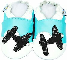 Littleoneshoes Leather Baby Infant Toddler Kid AirplaneNavy Shoes 12-18M
