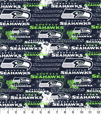 NFL Seattle Seahawks Distressed 100% Cotton Fabric - Fat Eighth (9
