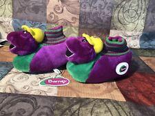 RARE Barney The Dinosaur Slippers Brand New Kids Size XL 11-12