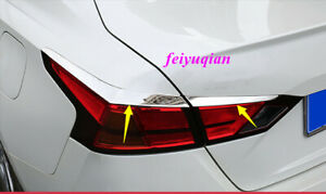 Stainless Chrome Rear Tail Light Lamp Decor Cover Trim For Nissan Altima 2019