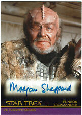 Star Trek Complete Movies Autograph Card A34 W Morgan Sheppard Klingon Commander