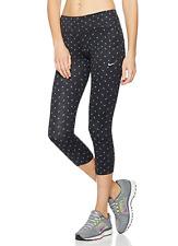 NIKE DRI-FIT WOMENS POWER EPIC RUN RUNNING TIGHT FIT CAPRI BLACK XS #799820-NWT
