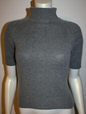 Talbots Gray Cashmere Silk SS Turtleneck Sweater PP