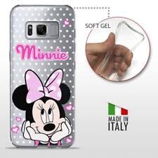 Samsung Galaxy S8 TPU CASE COVER PROTETTIVA TRASPARENTE Disney Minnie Mouse Pois