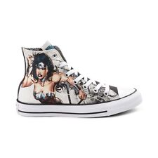 NEW PRINT Converse Chuck Taylor All Star Hi Wonder Woman DC Sneaker White Shoes
