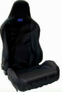 EMBROIDERED BLACK RECARO CAR SEAT COVER FOR FORD FOCUS MK2 MK3 RS RS500 ECOBOOST