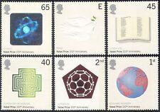 GB 2001 Dove/Nobel Prize/Book/Peace/Hologram/Science/Birds/Nature 6v set n18251