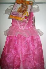 Disney Aurora Sleeping Beauty Kids Child Sparkle Costume Dress S/P 4-6x + Wig