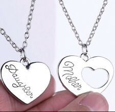 Mother and Daughter X2 Large Necklace Stainless Steel Birthday Christmas 828