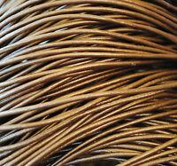 5 metros de cordón de cuero 2mm, color Bronce, couro, leather, cuir, leder